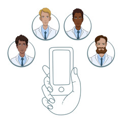 Mobile app for collaboration between medical workers