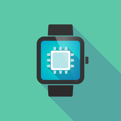 Smart watch vector icon with a cpu