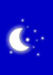 Grafica luna. Stelle.