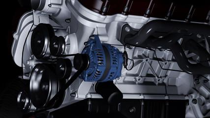 Nahaufnahme eines PKW-Motors