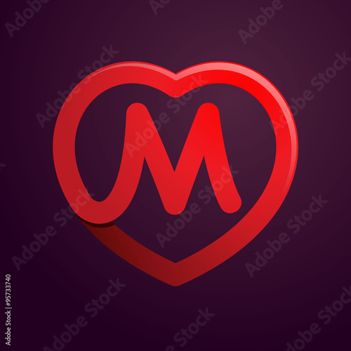 P Letter With Red Heart Stock Image And Royalty Free Vector Files On Fotolia