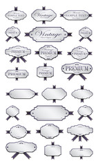 Luxury purple labels and blank labels template
