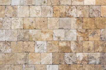 Decorative orange stone tiles