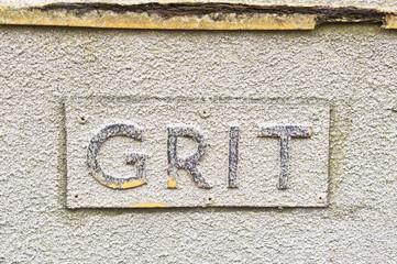 Grit sign