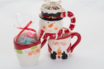 Funny Christmas mug with tasty candies
