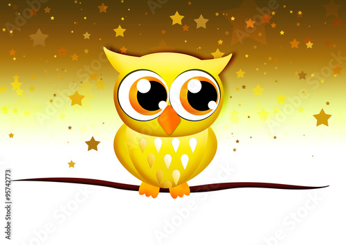 golden owl goldene eule f r weihnachten stock photo. Black Bedroom Furniture Sets. Home Design Ideas