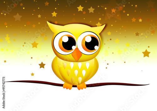 golden owl goldene eule f r weihnachten stock photo. Black Bedroom Furniture Sets. Home Design Ideas