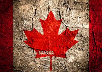 canada flag maple leaf on grunge backdrop