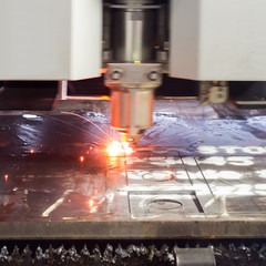 laser cutting process, motion
