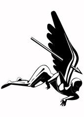Illustration of the fallen angel