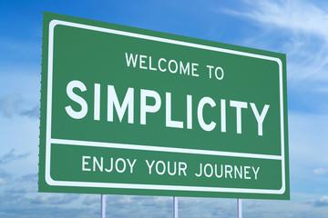 Fototapeta Welcome to Simplicity concept obraz