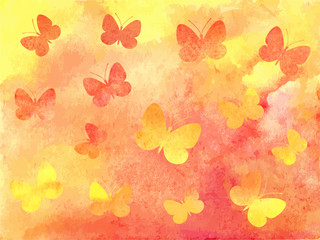 Beautiful colorful watercolor background. Vector illustration.