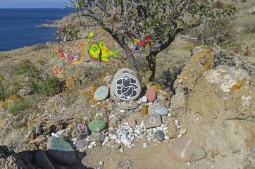 Self-made altars to various deities.