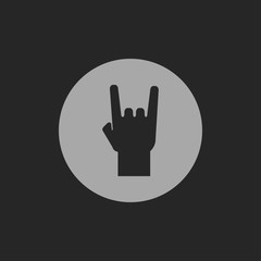 rock hand sign icon