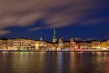 Stockholm Old Town at Night
