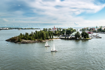 Suomenlinna Maritime fortress on the Islands in the harbour of H