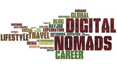 Digital Nomad Word Cloud