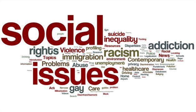 Social Issues Word Cloud
