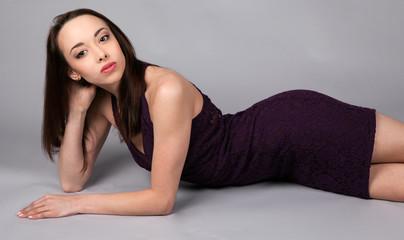 Attractive Greek Woman in Tight Mini Dress