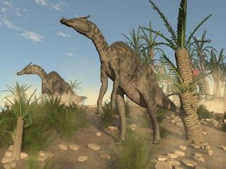 Saurolophus dinosaurs - 3D render