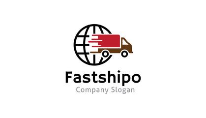 Transport truck shipping illustration