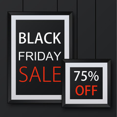 Vector modern black friday background.