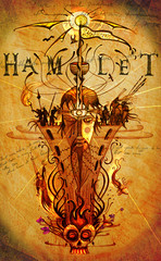 Hamlet - illustrating most of the key elements and characters in the classic tragedy