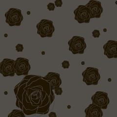 Темный фон с розами