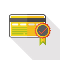 certification card flat icon
