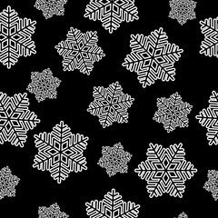snowflakes seamless isolated