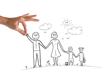 Happy family sketch