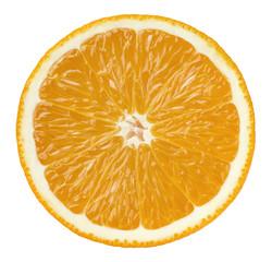 Orange half cut isolated on white background