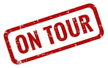 On Tour Stempel rot grunge Wall mural