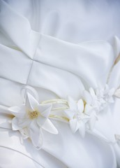 Wedding dress with with patterns