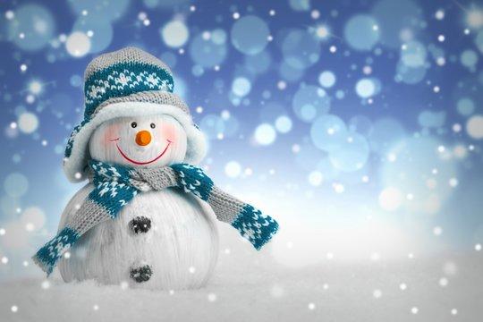 Snowman - Snowflakes - Bokeh