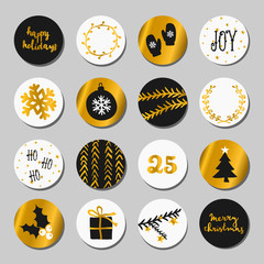 White, Gold and Black Christmas Set