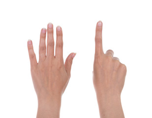 hands show the number six