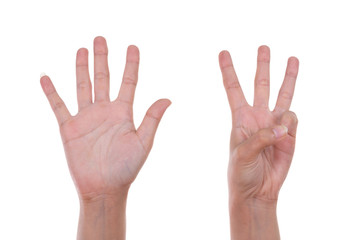 hands show the number eight
