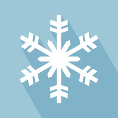 Snowflake Icon. Snowflake Icon with Long Shadow. Snowflake Icon in Flat Design Style. EPS 10 vector illustration for design. All in a single layer. Vector illustration.
