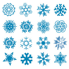 Snow flakes.
