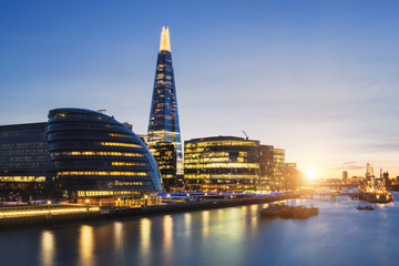 View of london skyline