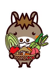 野菜を持った動物シリーズ