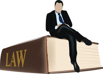 seduto sopra la legge