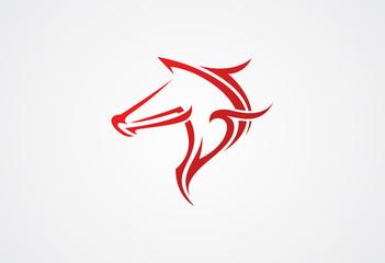 Horses head logo vector