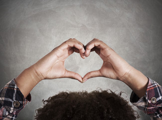 hands with heart sign