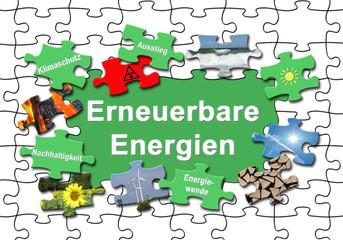 """Energiewende 29 / Puzzle """"Erneuerbare Energien"""" mit heraus genom"""