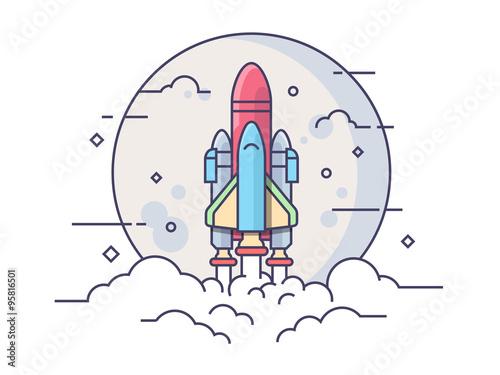 startup space rocket stockfotos und lizenzfreie vektoren auf bild 95816501. Black Bedroom Furniture Sets. Home Design Ideas
