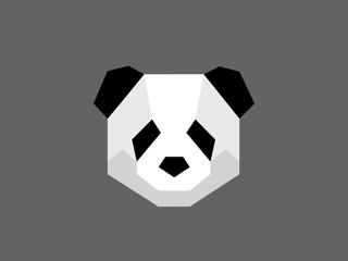 Flat vector panda