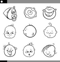 cartoon babies set