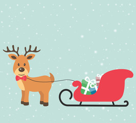 deer and sleigh